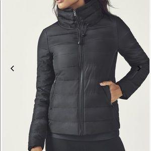 Fabletics Misha Puffer Jacket Black Coat XXL NWT